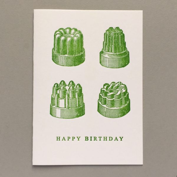Jelly Moulds. Happy Birthday