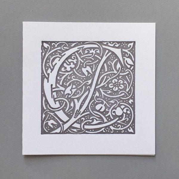 Letter Press Card William Morris C