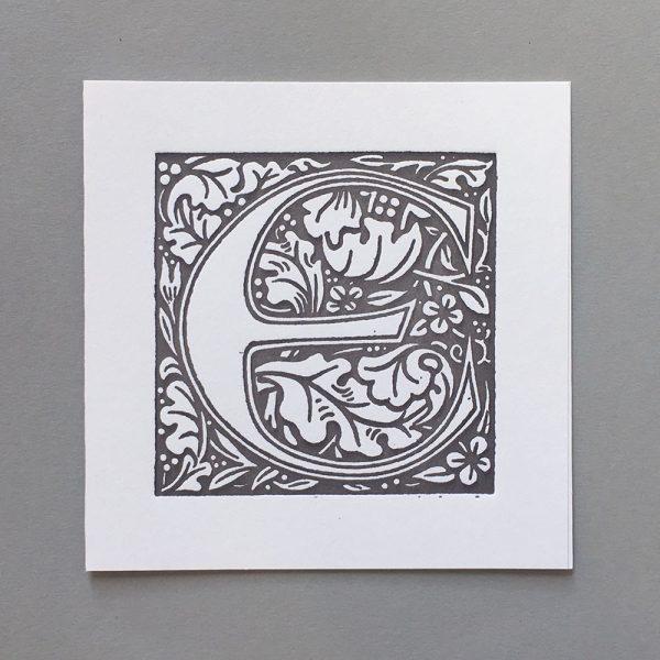 Letter Press Card William Morris E