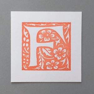 Letter Press Card William Morris F