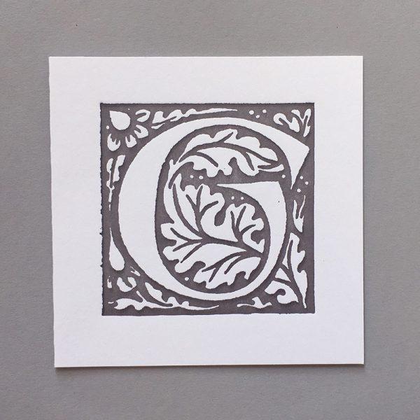 Letter Press Card William Morris G