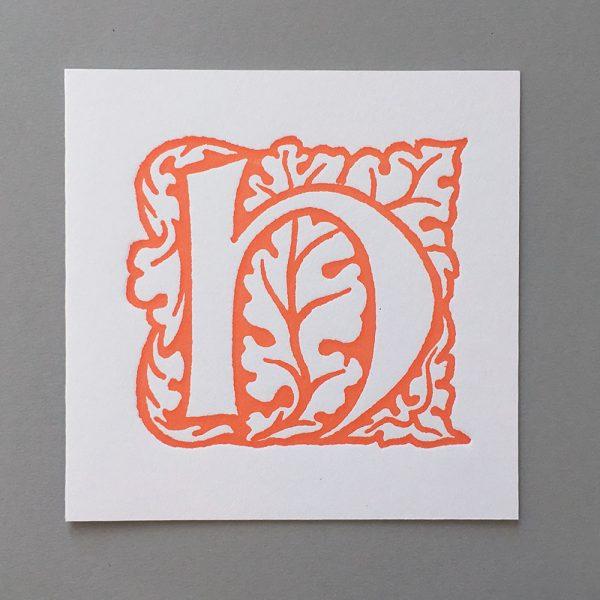 Letter Press Card William Morris H