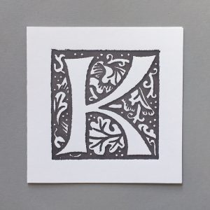 Letter Press Card William Morris K