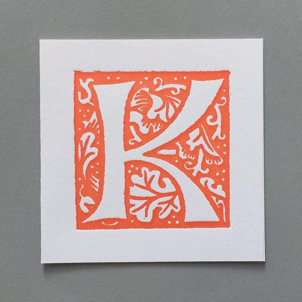 Letter Press Card William Morris K