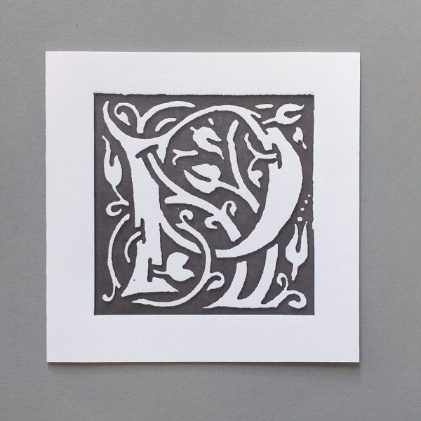 Letter Press Card William Morris P