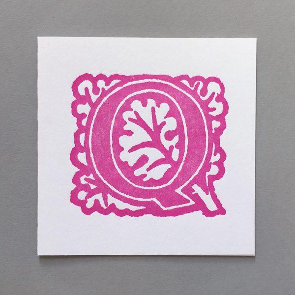 Letter Press Card William Morris Q