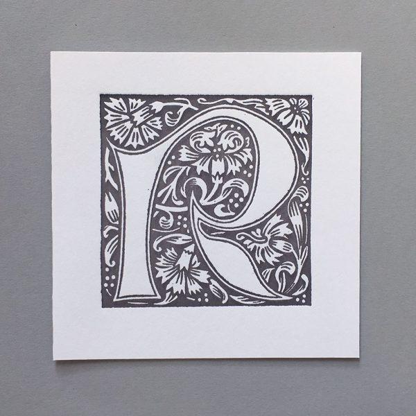 Letter Press Card William Morris R