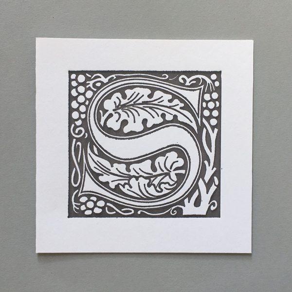 Letter Press Card William Morris S