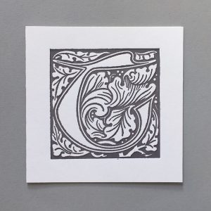 Letter Press Card William Morris T