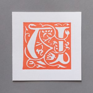 Letter Press Card William Morris U