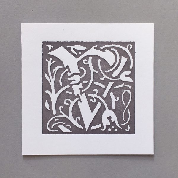 Letter Press Card William Morris V