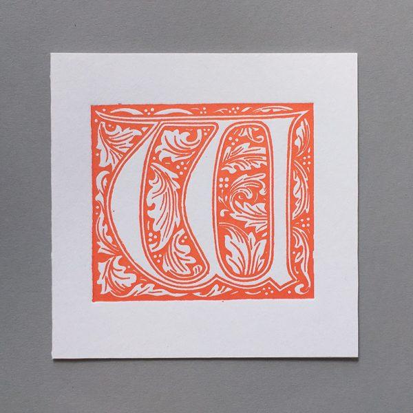 Letter Press Card William Morris W