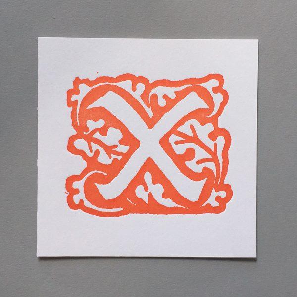 Letter Press Card William Morris X