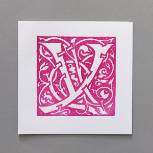 Letter Press Card William Morris Y