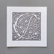 Letter Press Card William Morris C
