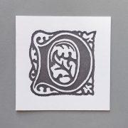 Letter Press Card William Morris D