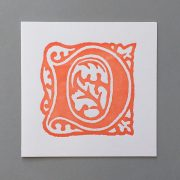 Letter Press Card William Morris D