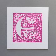Letter Press Card William Morris E