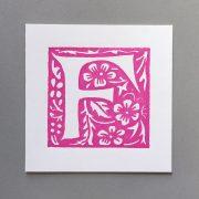 Letter Press Card William Morris F