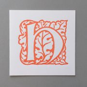 Letter Press Card William Morris H