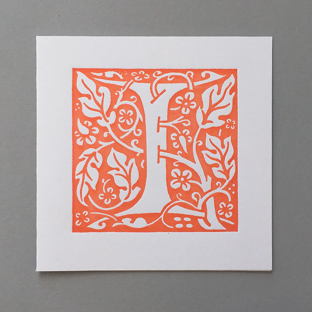 Letter Press Card William Morris I