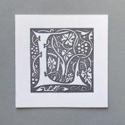 Letter Press Card William Morris L