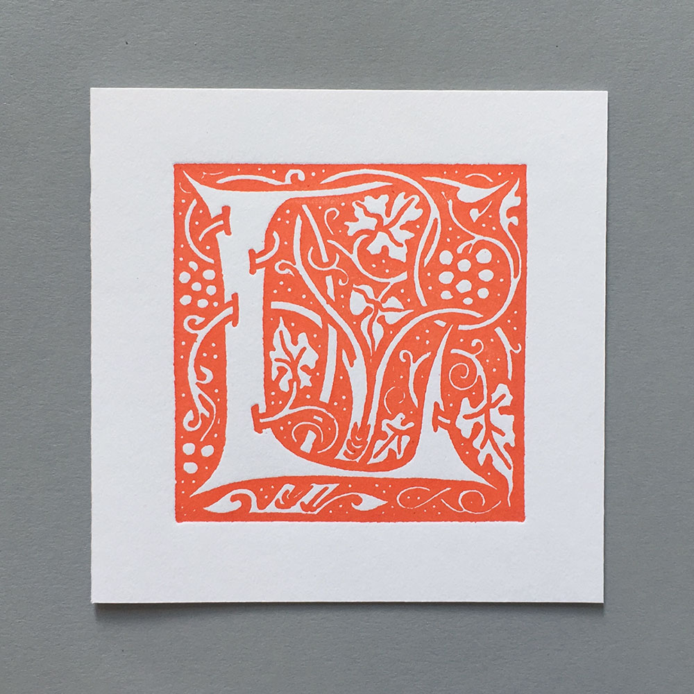 Letter Press Card William Morris L