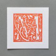 Letter Press Card William Morris M