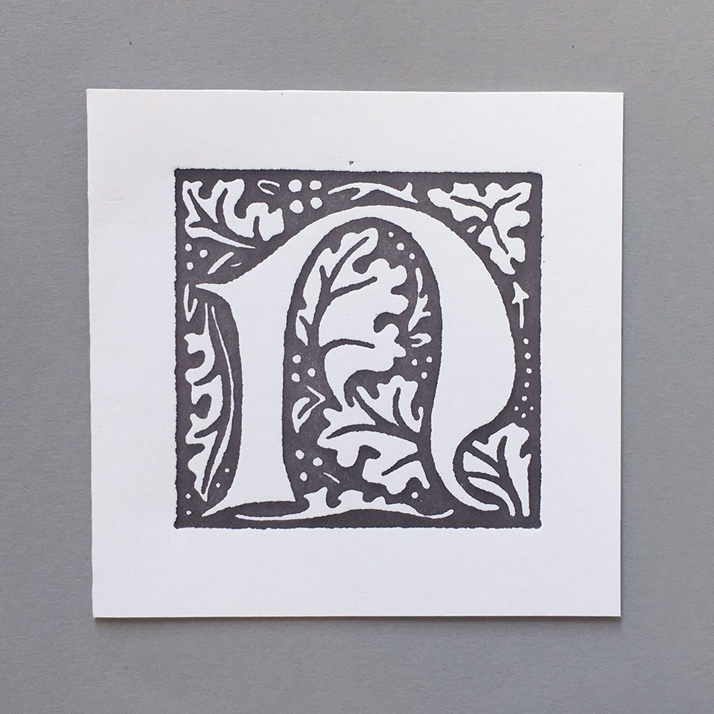 Letter Press Card William Morris N