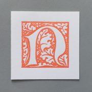 Letter Press Card William Morris N