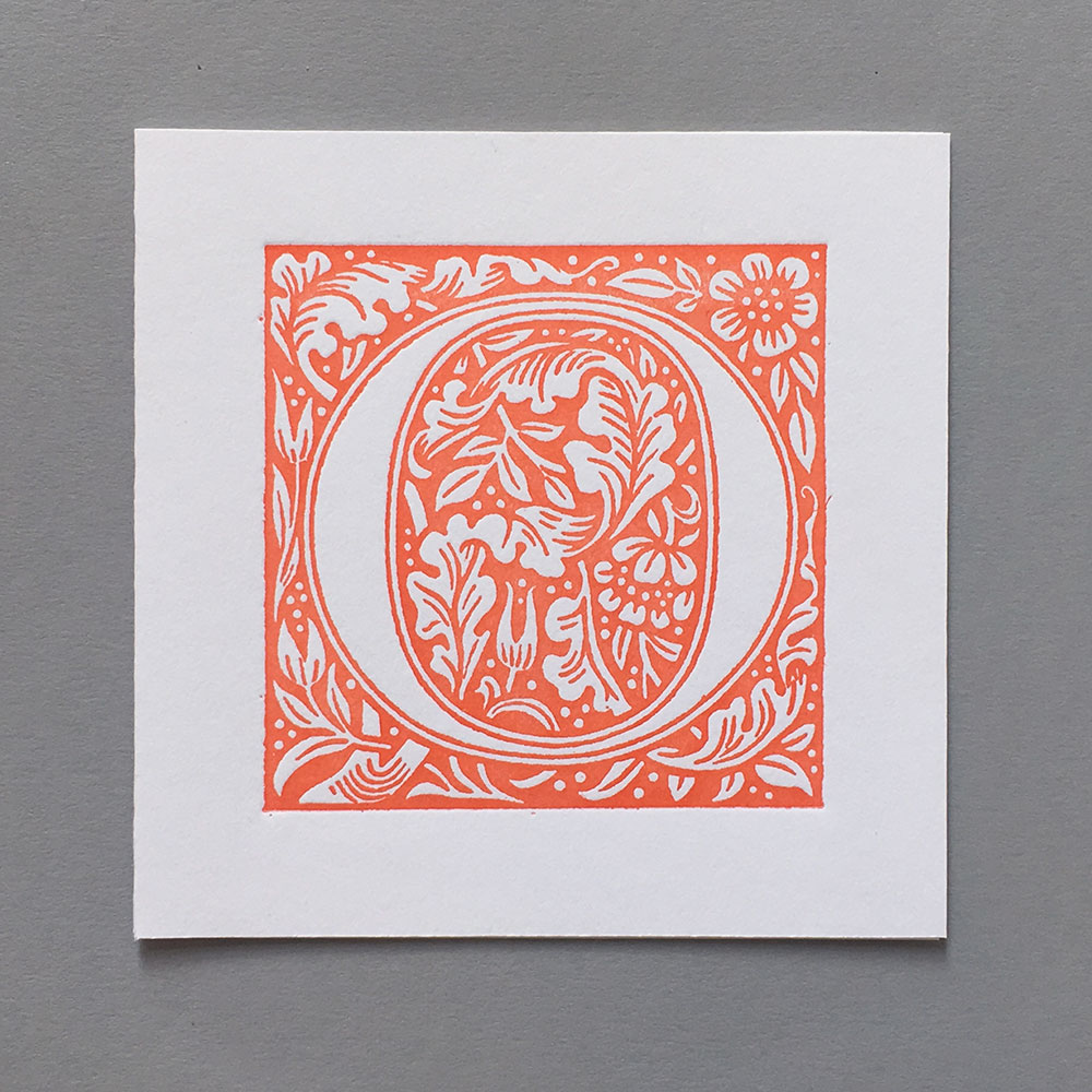 Letter Press Card William Morris O
