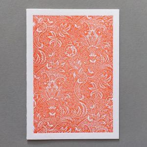 Letter Press Card William Morris Design