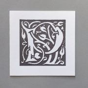 Letter Press Card William Morris P