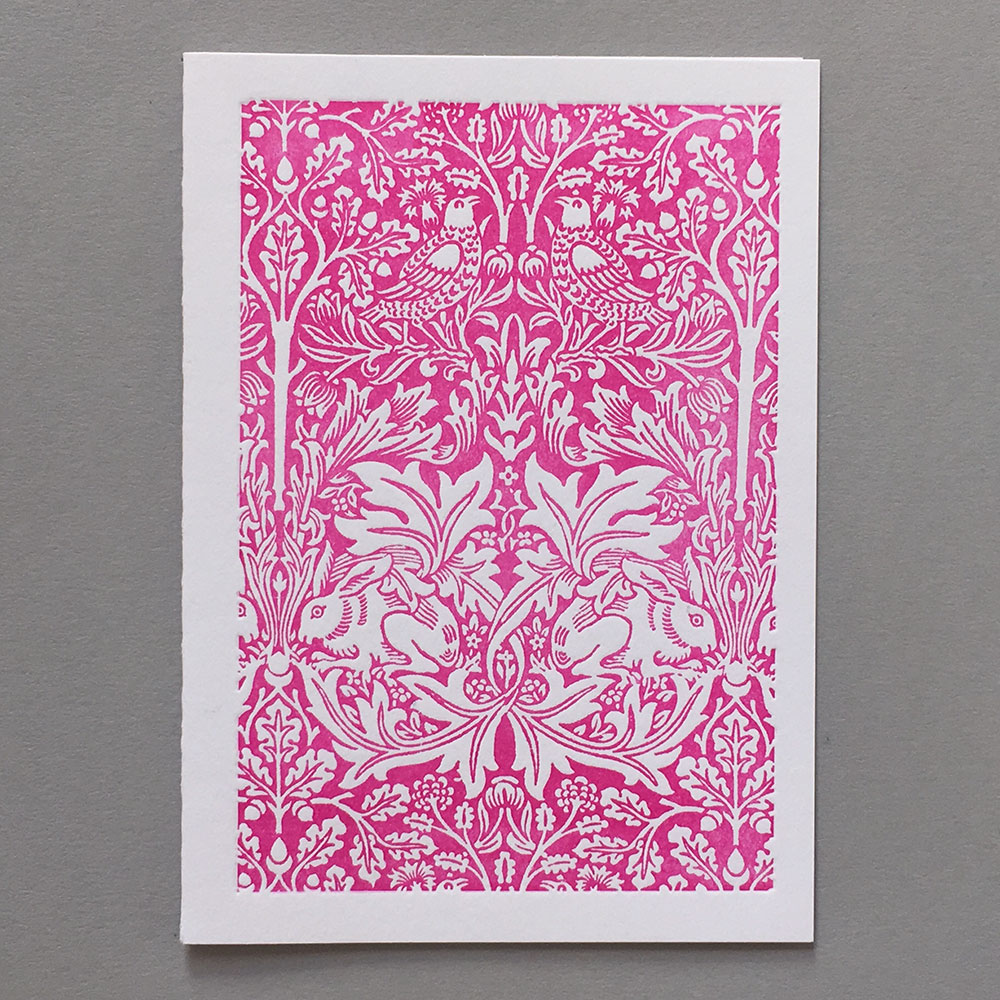 Letter Press Card William Morris Design