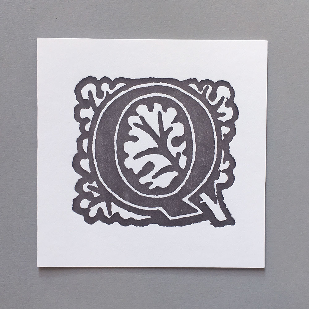 Letter Press Card William Morris Q
