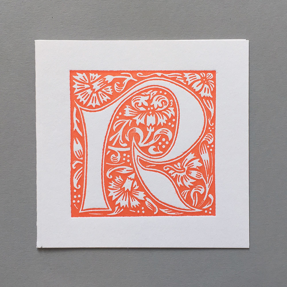 Letter Press Card William Morris R