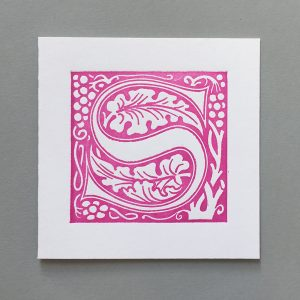 Letter Press Card William Morris S