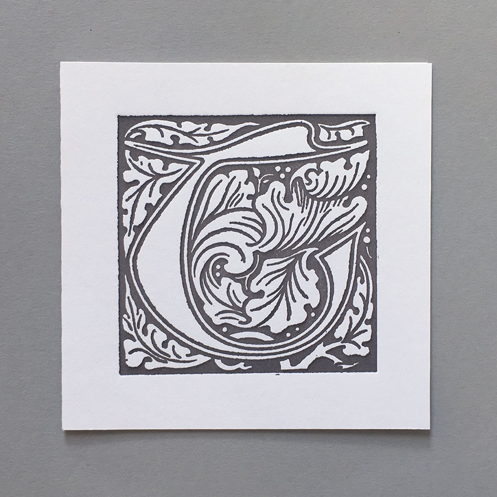 Letter Press Card William Morris T