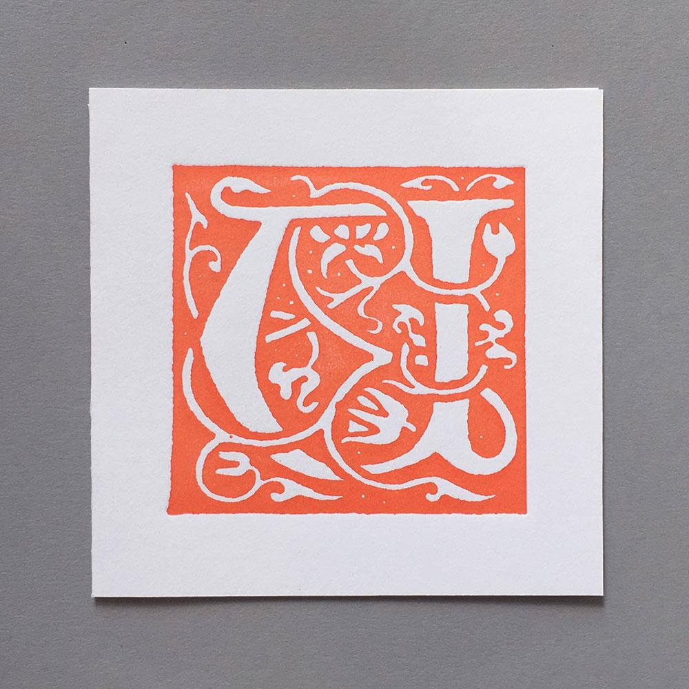 Letter Press Card William Morris U
