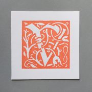 Letter Press Card William Morris V