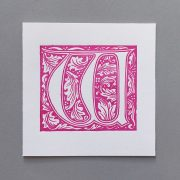 Letter Press Card William Morris W