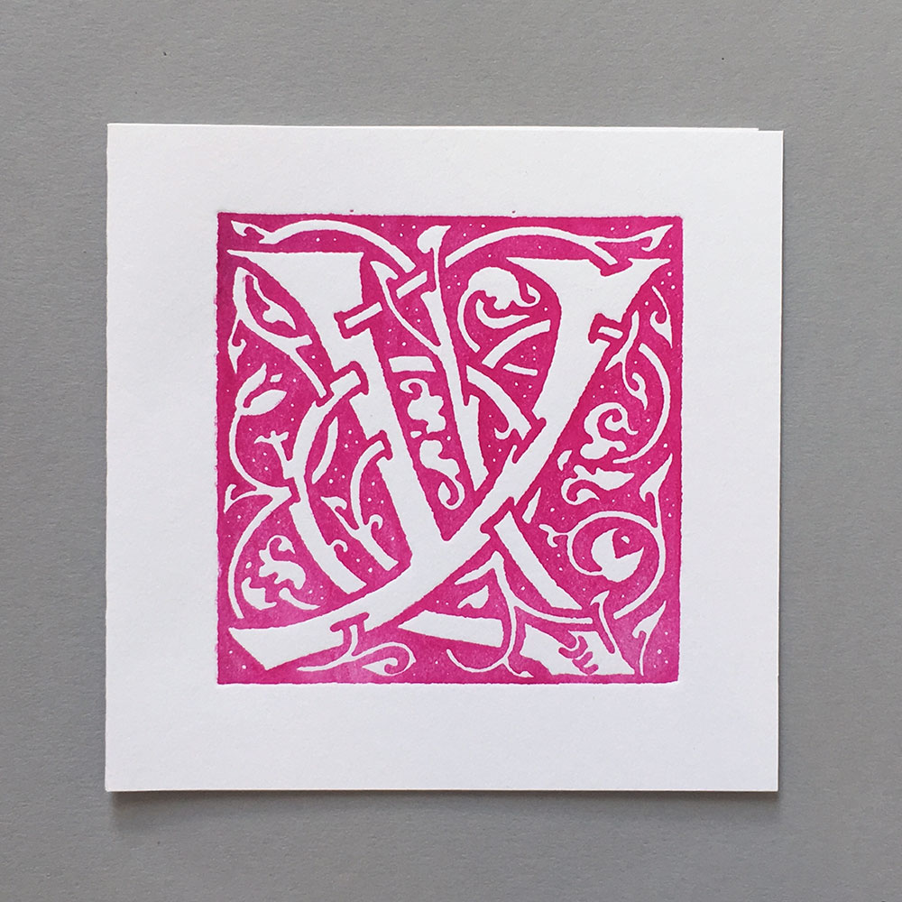 Letter Press Card William Morris Y