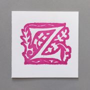 Letter Press Card William Morris Z
